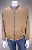 PAUL & SHARK Light Brown Microfiber Suede Zip Front Bomber Jacket~ Medium