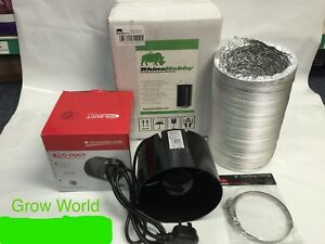 """Fan & Filter Extraction Kit Rhino Hobby Carbon Filter 4 5 6 """" Inch Hydroponics"""