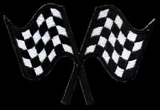 Racing Flags patch Automotive Checkered Flag Hot Rod Drag race Motorcycle