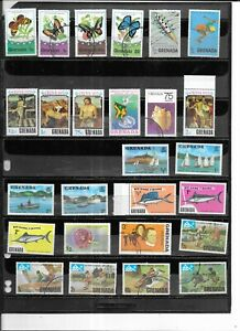 GRENADA 1975. SELECTION OF 26.  VERY FINE USED. AS PER SCAN