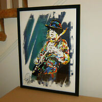 Stevie Ray Vaughan SRV Blues Rock Guitar Music Poster Print Wall Art 18x24