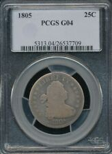 1805 Draped Bust Quarter PCGS G 04 *Old Blue Holder* *Stone Cold Original!*