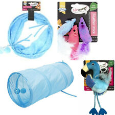 Good girl starter play cat toy bundle -Blue tunnel, flamingo and 3 mices