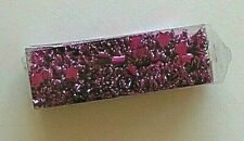 New Nwt Christmas Tinsel Garland Fuchsia with Stars 9 ft