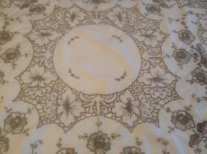 Vintage Tablecloth with Madeira Hand Embroidery