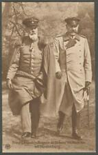German Royalty Real Photo Postcard - Prince Leopold & General Hindenburg - RP