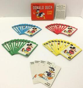 Vtg 1949 Walt Disney Donald Duck Card Game Whitman Pub