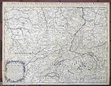 Unità Reno-Baden-Württemberg-Francia - Cantelli B. ROSSI-mappa-MAP 1689