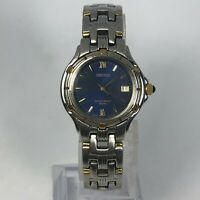 Seiko Womens V782-0779 5 Bar Dual Tone Japan Movements Quartz Analog Wristwatch