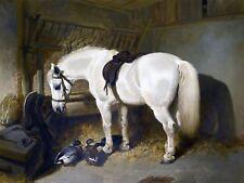 White Horse DUCKS Farm J. Herring Tile Mural Kitchen Backsplash Marble Ceramic