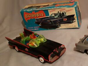 1960,s original batmobile tin toy asc japan battery powered