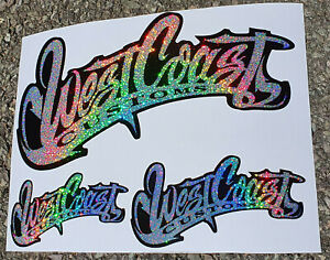 West coast customs decal/ stickers 3 sizes Hi Quality - **Ultra Bling**