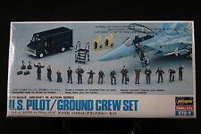 XN041 HASEGAWA 1/72 maquette figurine X72-007-500 US Pilot Ground Crew Set 1987