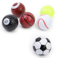 6Pcs Assorted Design Practice Golf Balls Basketball/Football/Tennis/Baseball