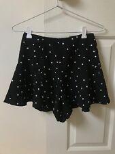 Black And White Polka Dot High Waisted Shorts/Skort - Size 8
