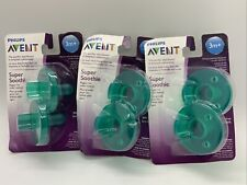 New listing New Philips Avent 2 Pack (3) Scf192/05 Super Soothie Pacifier 3m+ Bpa Free All 6