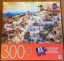 Santorini Puzzle Aegean Sea NEW EZ Grasp MB Milton Bradley  300 pieces