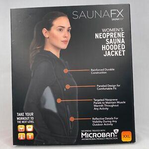 SaunaFX Women's Neoprene Sauna Microban Hooded Jacket Size XXL  L Large