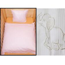Baby Bettwäsche 80x80 Geburt Weiß Elefant Baumwolle Kinderwagen Geschenkidee