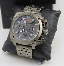 NEW AUTHENTIC DIESEL BAMF GREY GUNMETAL CHRONOGRAPH MEN'S DZ7344 WATCH