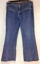 Old Navy, The Sweetheart womens jeans, trouser cut, size 10, faux cuffs