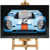 Porsche 917 Gulf Le Mans canvas wall art print picture