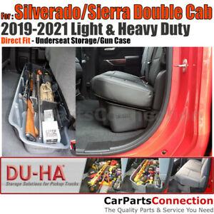 DU-HA 10420 Underseat Storage Gun Case For Silverado/Sierra Double Cab Black