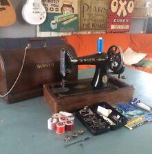 Semi Industrial Singer 99k Sewing Machine Heavy Duty Power Leather Hand Crank #9
