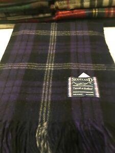 Edinburgh Highland Throw Wool Blanket Scottish Heritage Tartan Check Reversible