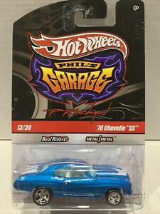 Hot Wheels '70 Chevelle SS Phil's Garage 13/39 RARE BLUE WHITE INTERIOR SEALED