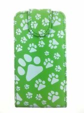 Green Fashion Animal Footprint Flip case foor Samsung Galaxy Ace s5830 / s5830i