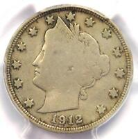 1912-S Liberty Nickel 5C - PCGS Fine Details - Rare Key Date Certified Coin!