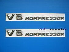 ONE PAIR (2PCS) * V6 KOMPRESSOR * SIDE EMBLEM MERDEDES W164 W163 W204 W203 W209