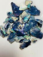 Australian Rough Opal L/R Black Dark Opals Colours but Gamble 70cts ww1099 Video