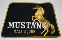 Rare 1960s LG Mustang Malt Liquor Brewing Beer Back of Jacket Patch New NOS