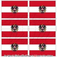 """AUSTRIA Austrian State Flag Mobile Cell Phone Mini Decals Stickers 1,6""""(40mm) x6"""