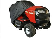 BLACK POLYESTER XTRA LARGE LAWN TRACTOR COVER FOR REAR SHOOT ONLY