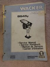 WACKER RAMMER BS 45Y SERVICE FACTORY MANUAL 53142 N1188