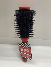 WIGO Large MIxed Round Bristle Brush- Red - New with Tag