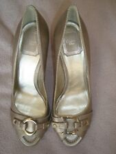 Christian Dior UK 5 EU 38 Silver Leather heels Peep Toes shoes RRP £520.00