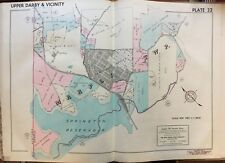 1942 DELAWARE CO PA MARPLE TWP SPRINGTON RESERVOIR GREENBANK FARM ATLAS MAP