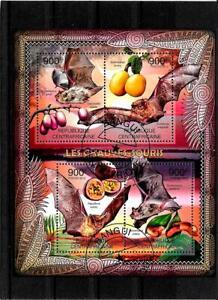 Briefmarken  -Centrafricaine -Tiere-Block-2012
