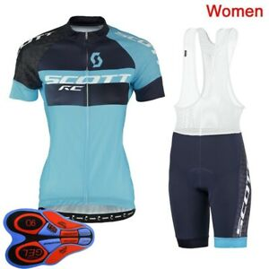 2021 Summer Womens Cycling Clothing Short Sleeve Team Bike Jersey Bib Shorts Set