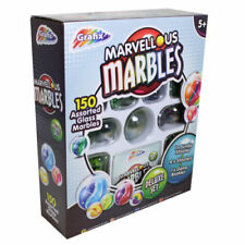 Marvellous Glass Marbles Deluxe Set Shooters Jumbo Shooter Toy Game 150 Piece