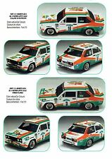 Decal - Fiat 131Abarth - LATTE SOLE  - Rally TARGA FLORIO 81/ COLLINE ROMAGNA 81