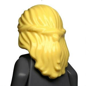 NEW LEGO - Figure Hair - Female - Mid Length w/ Braid Yellow Bright x1 - Queen