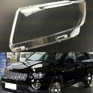 Left Side Transparent Headlight Cover + Glue Replace For JeeP Compass 2011-2016s
