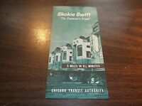 1965 CHICAGO TRANSIT AUTHORITY SKOKIE SWIFT PUBLIC TIMETABLE #13