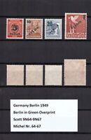 AM0600) Germany Berlin 1949 Sc. 9N64-9N67, Mi. 64-67 MNH VF, signed Schlegel BPP