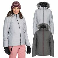 Trespass Womens Ski Jacket Padded & Waterproof Coat With Hood Snowskirt